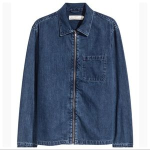 H&M Denim Shirt Jacket Zip-up